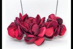 4 collar magnolia XL rojo